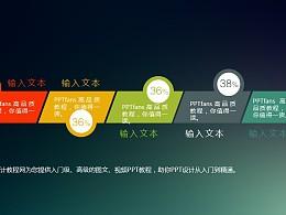 简洁大方多色彩的扁平化商务介绍目录PPT