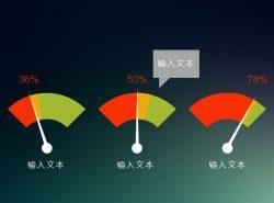 多色彩公司报告类型的比例展示图片PPT