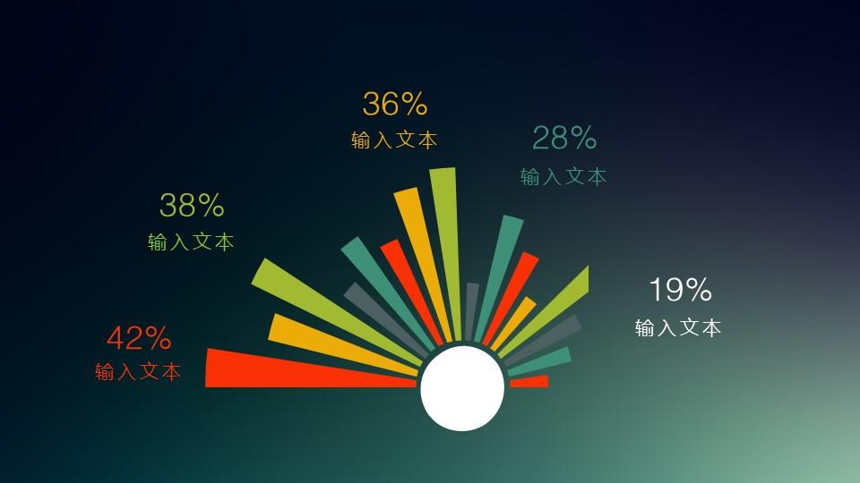 多色彩的用于各部分比例说明的PPT图片_预览图1