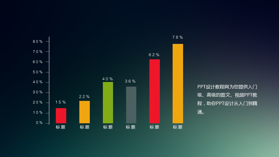 多彩色扁平化柱状图ppt_预览图1
