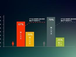 男女比例分布数据分析PPT图表