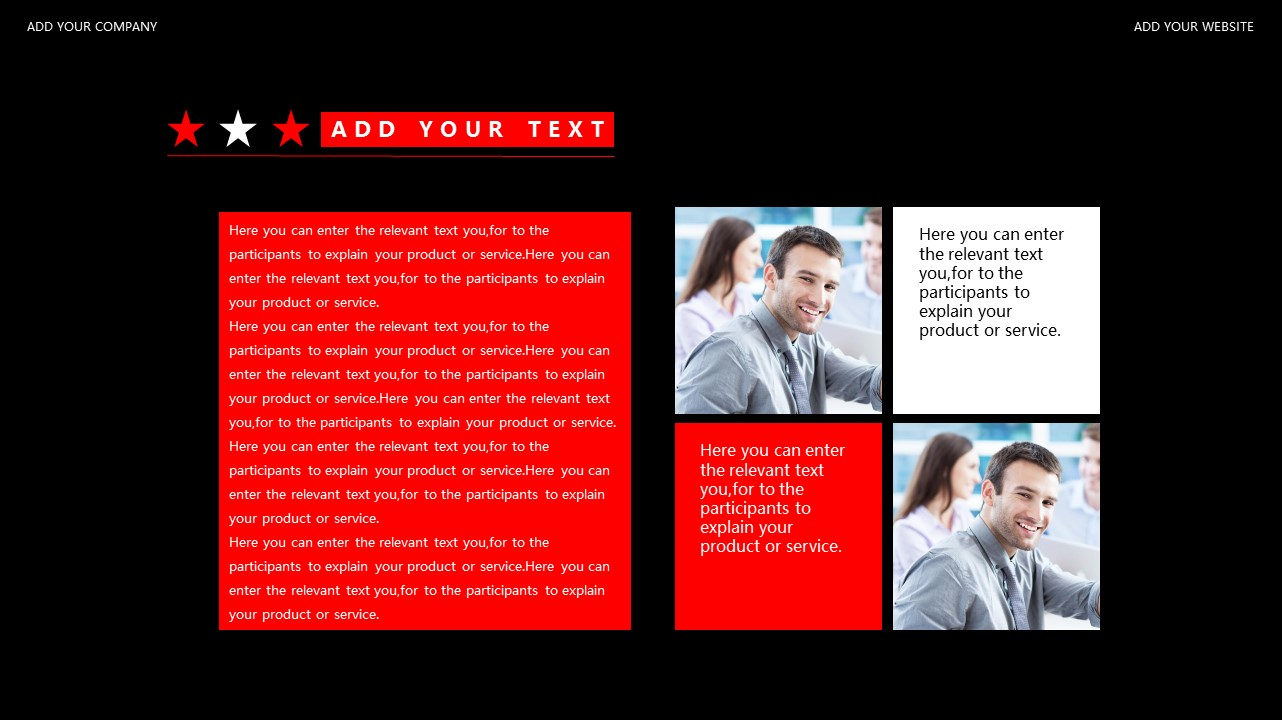 红与黑商务通用简洁PPT模板下载_预览图27