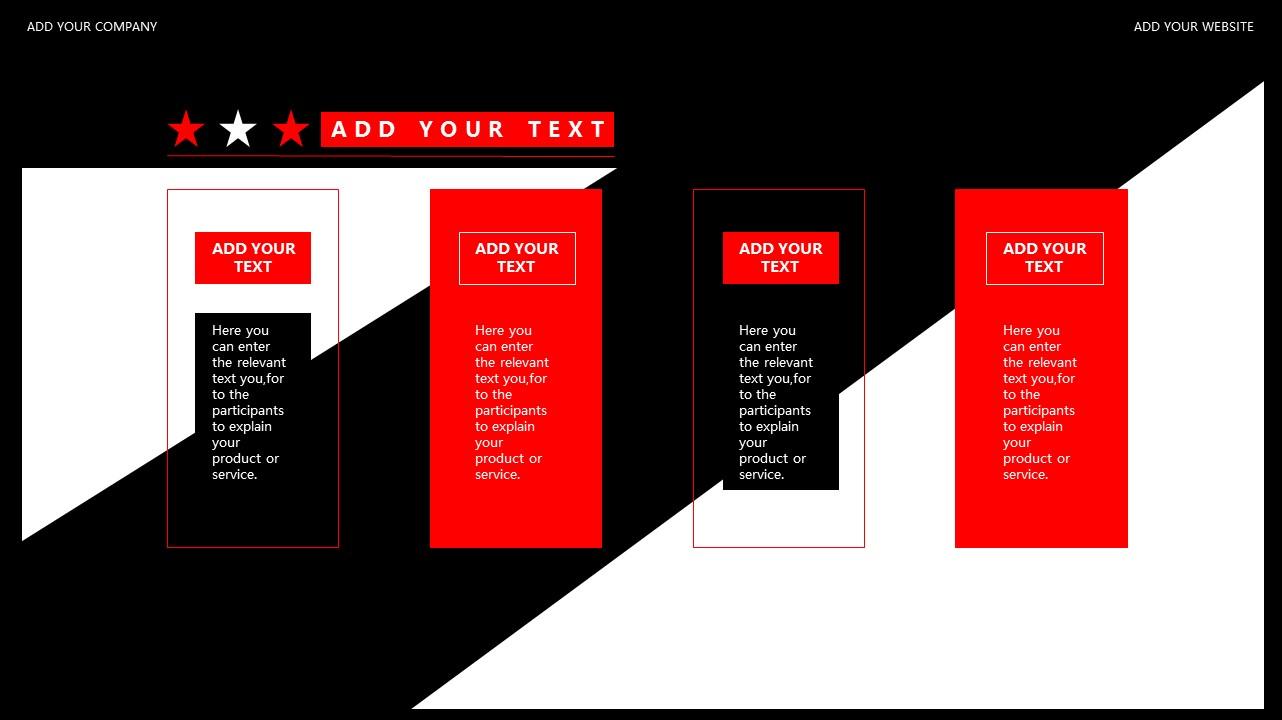 红与黑商务通用简洁PPT模板下载_预览图28