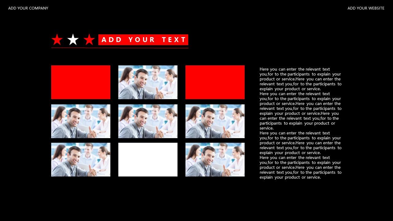 红与黑商务通用简洁PPT模板下载_预览图23