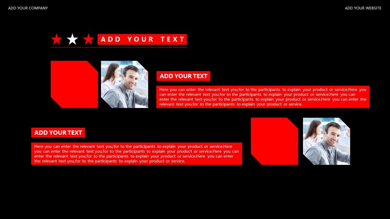 红与黑商务通用简洁PPT模板下载_预览图11
