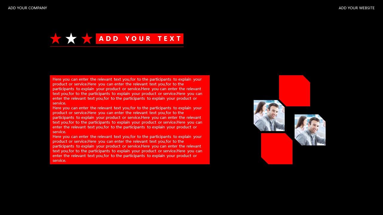 红与黑商务通用简洁PPT模板下载_预览图7