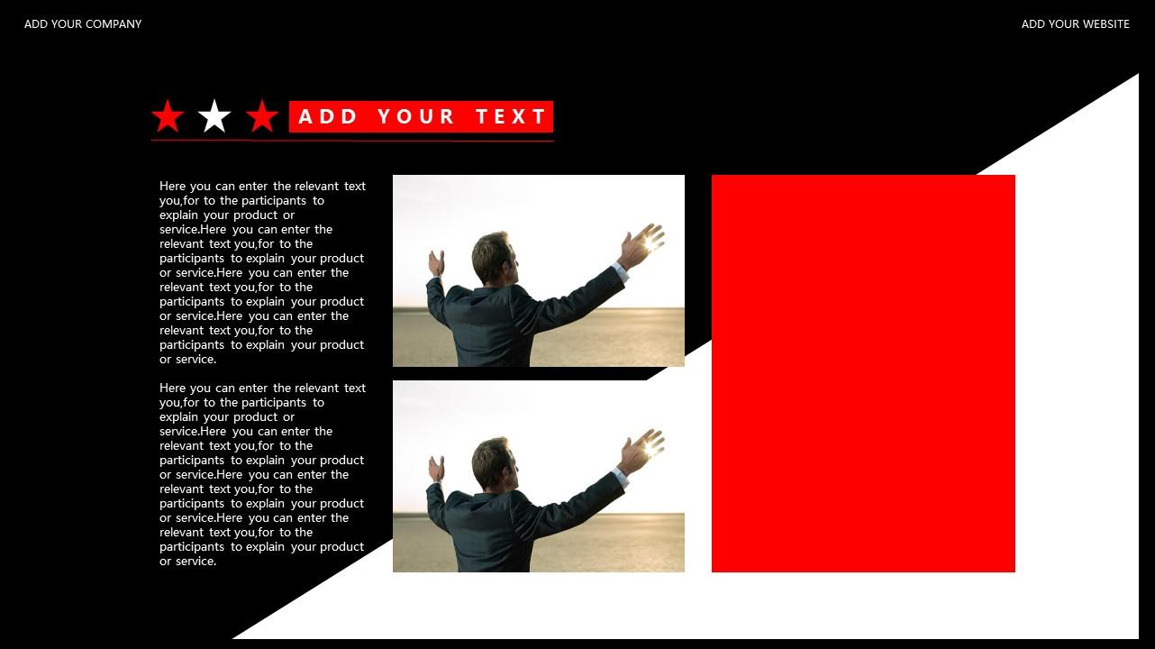 红与黑商务通用简洁PPT模板下载_预览图20