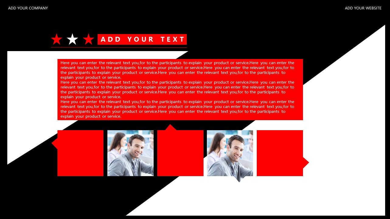 红与黑商务通用简洁PPT模板下载_预览图12
