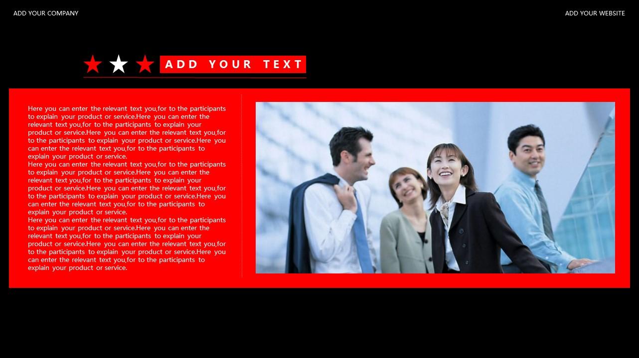 红与黑商务通用简洁PPT模板下载_预览图13
