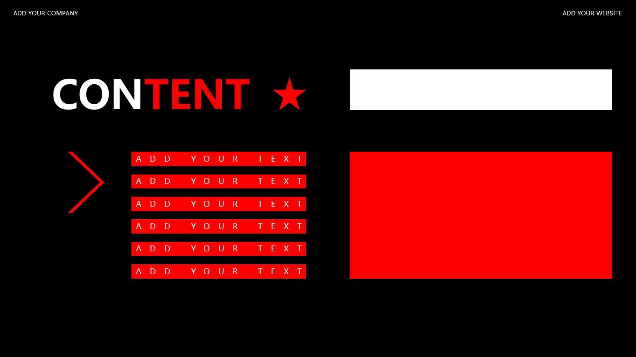 红与黑商务通用简洁PPT模板下载_预览图2