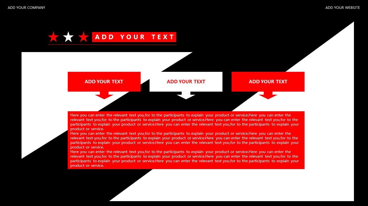 红与黑商务通用简洁PPT模板下载_预览图10
