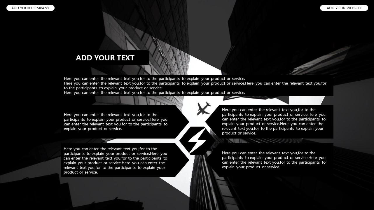 黑白时尚都市商务PPT模板_预览图33