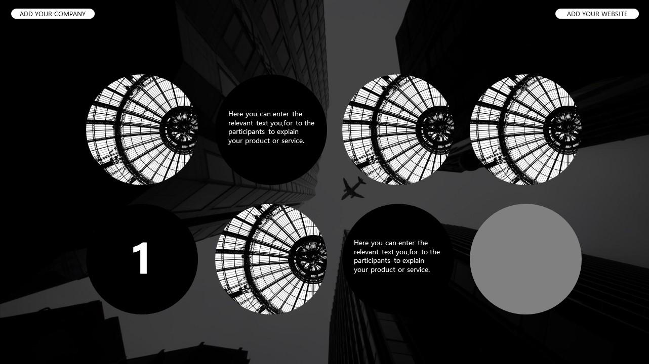 黑白时尚都市商务PPT模板_预览图30