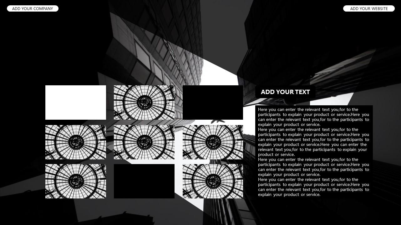 黑白时尚都市商务PPT模板_预览图23