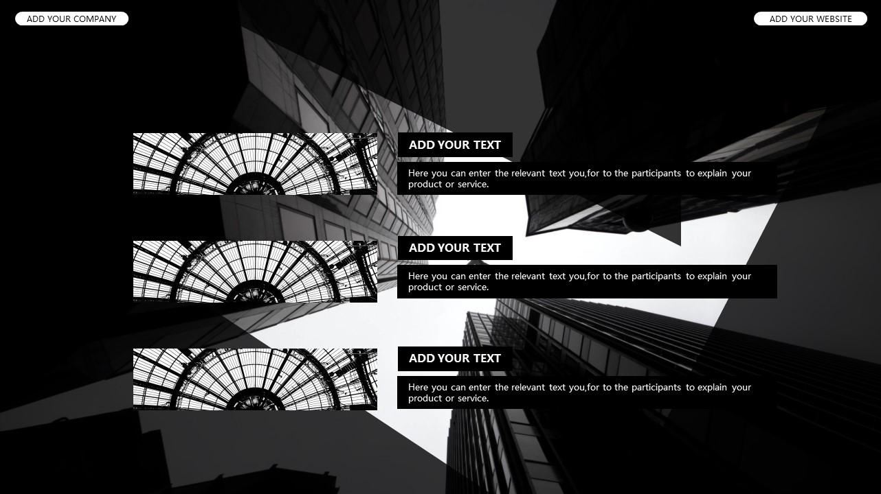 黑白时尚都市商务PPT模板_预览图21