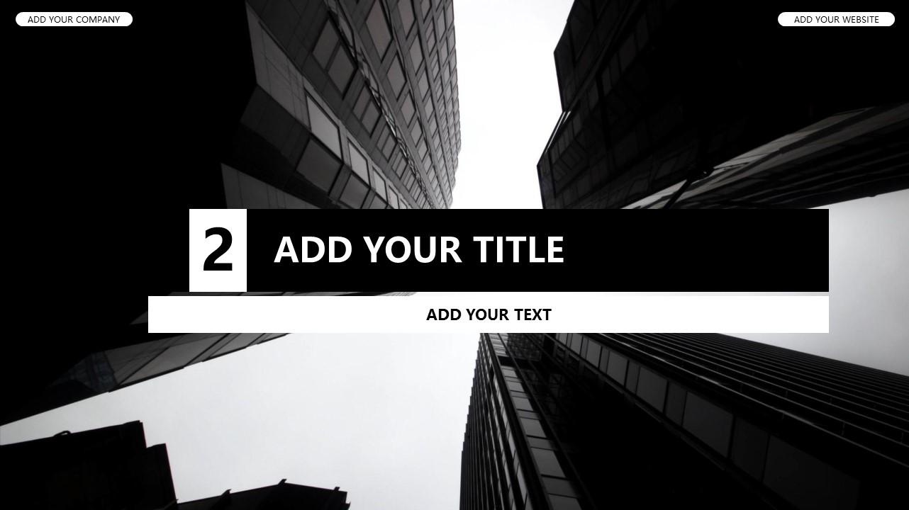 黑白时尚都市商务PPT模板_预览图9