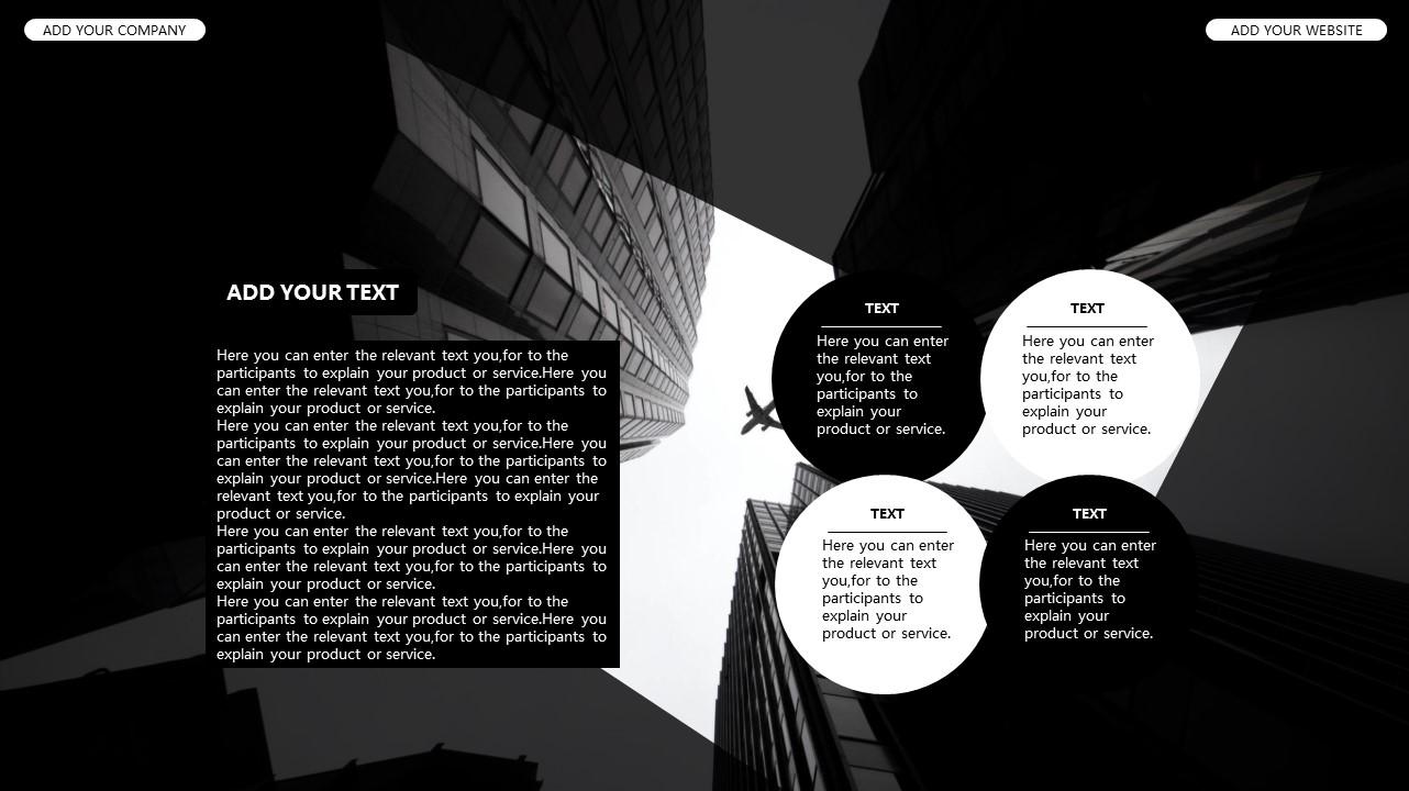 黑白时尚都市商务PPT模板_预览图26