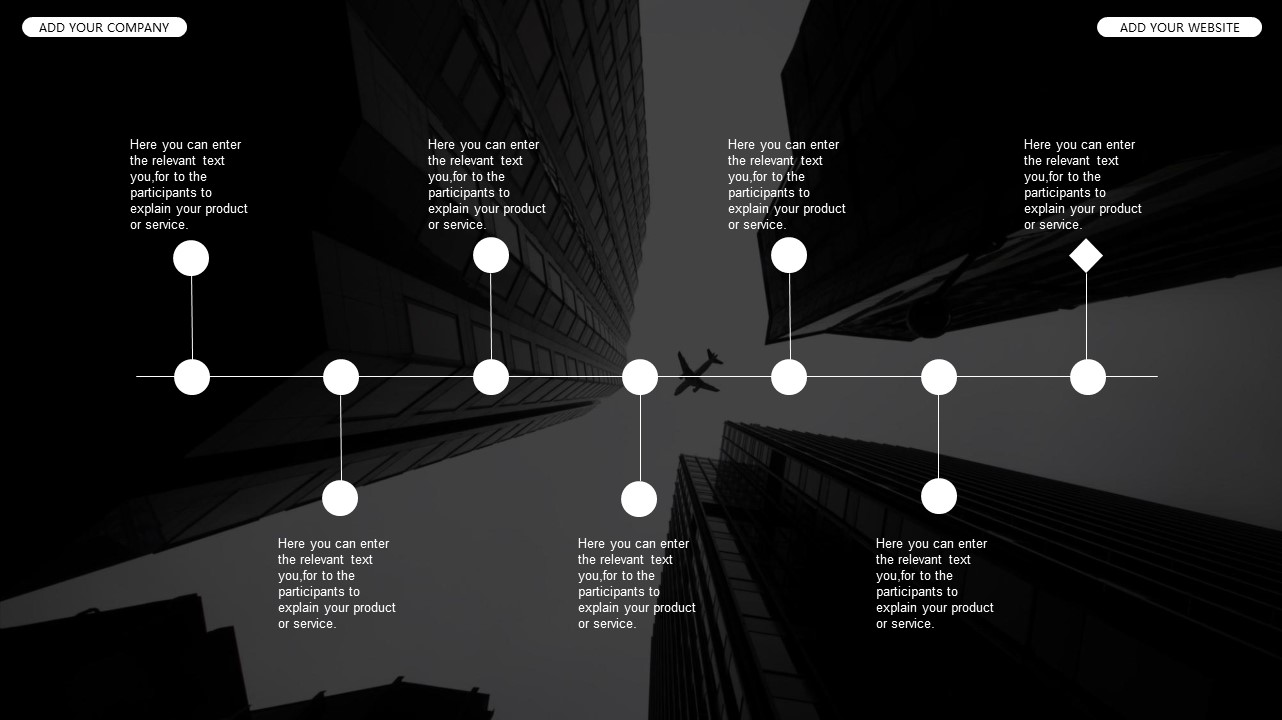 黑白时尚都市商务PPT模板_预览图32