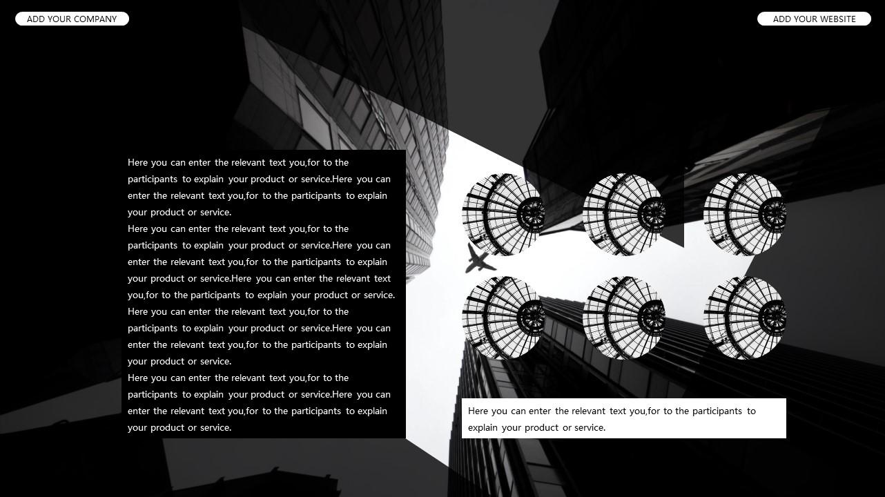 黑白时尚都市商务PPT模板_预览图18