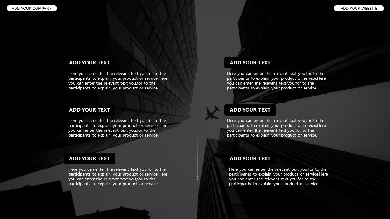 黑白时尚都市商务PPT模板_预览图17