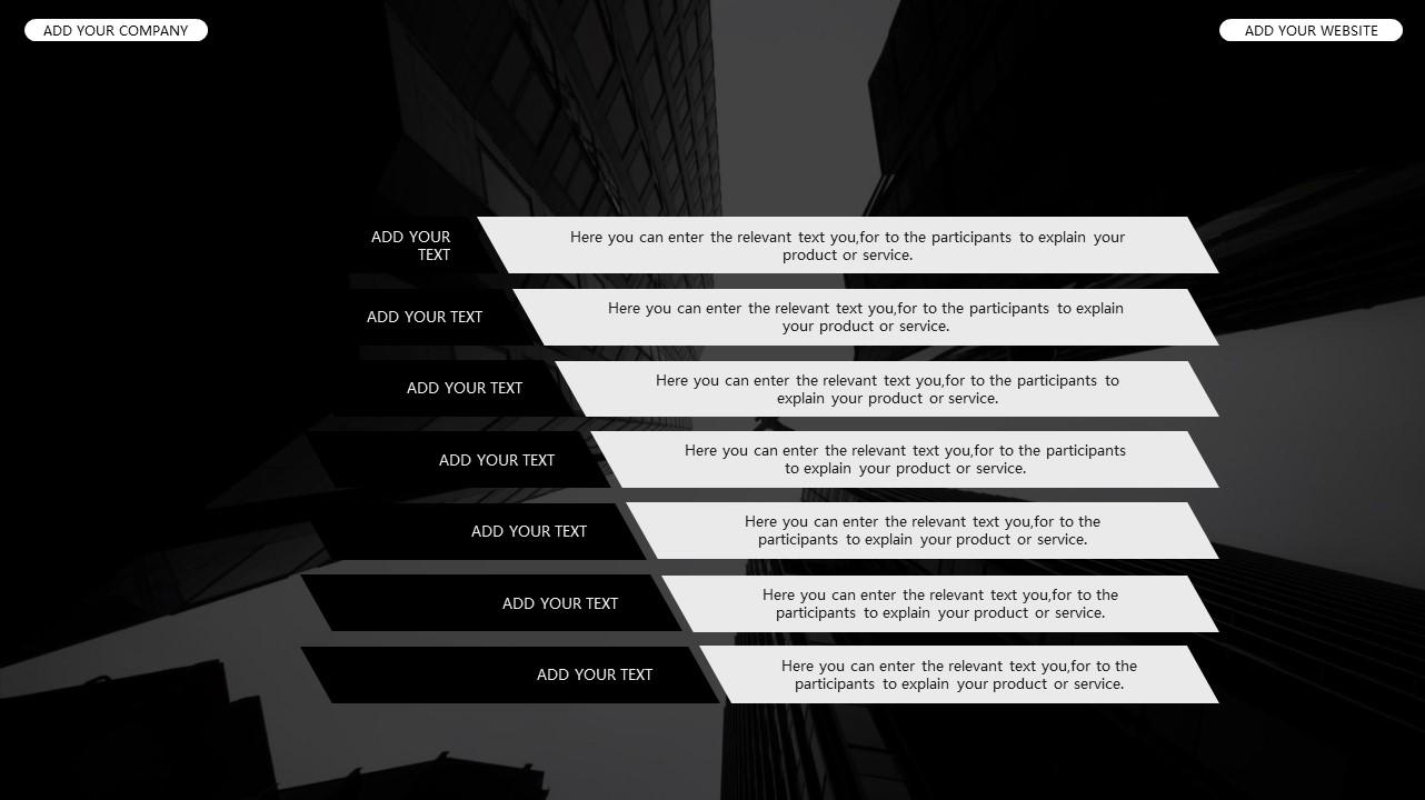 黑白时尚都市商务PPT模板_预览图25