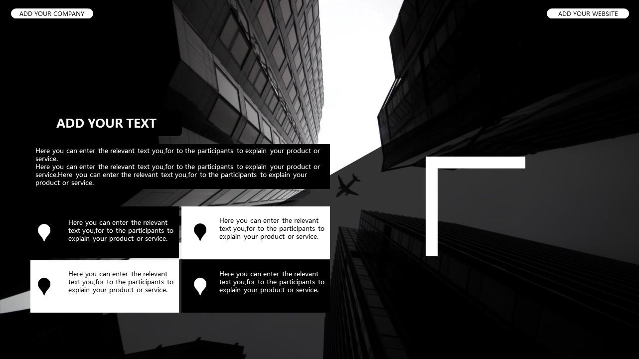黑白时尚都市商务PPT模板_预览图7