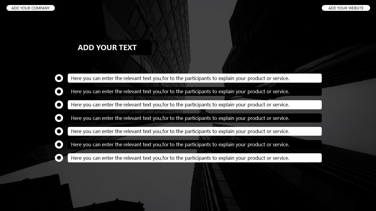 黑白时尚都市商务PPT模板_预览图20