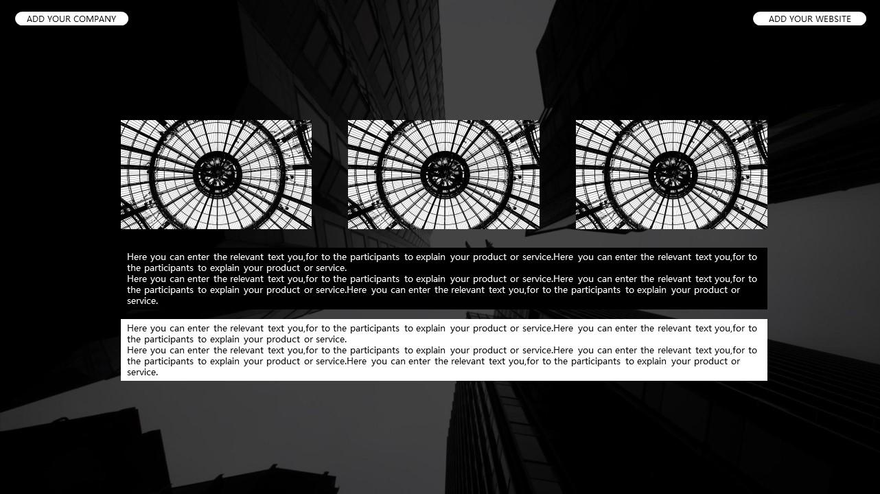 黑白时尚都市商务PPT模板_预览图15