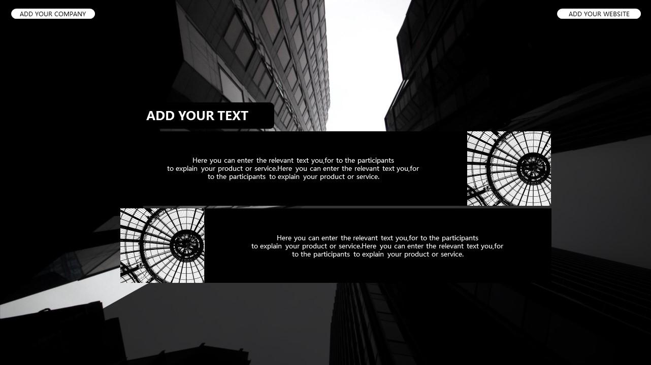黑白时尚都市商务PPT模板_预览图4