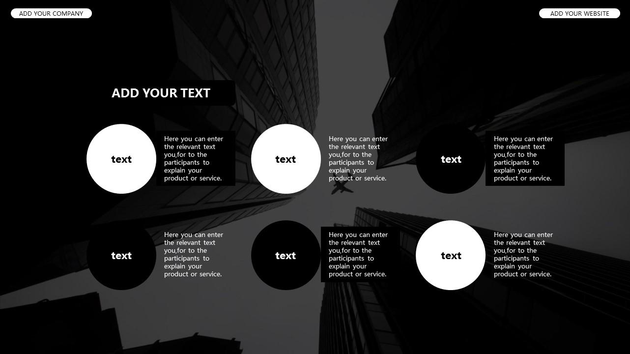 黑白时尚都市商务PPT模板_预览图22