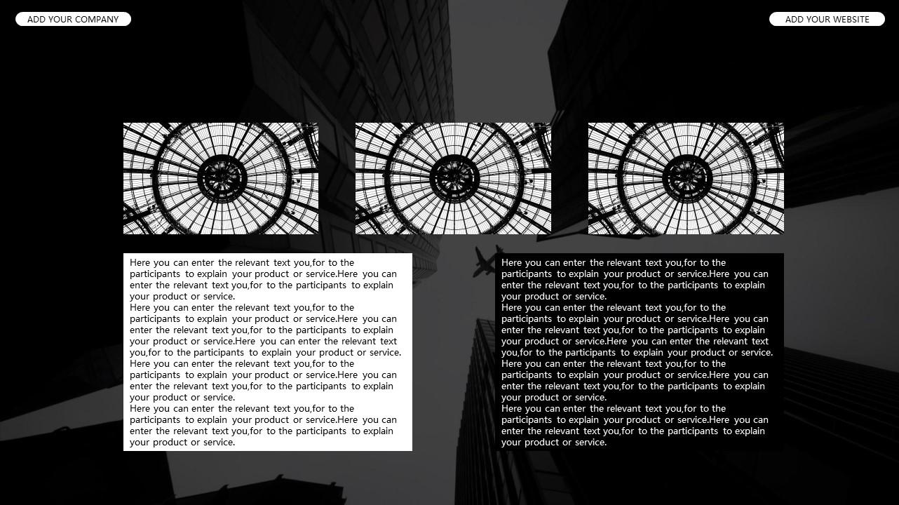 黑白时尚都市商务PPT模板_预览图12