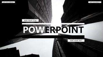 黑白时尚都市商务PPT模板