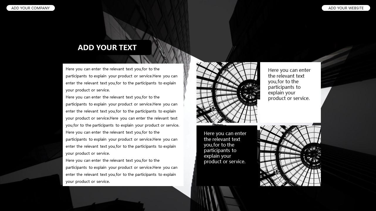 黑白时尚都市商务PPT模板_预览图13
