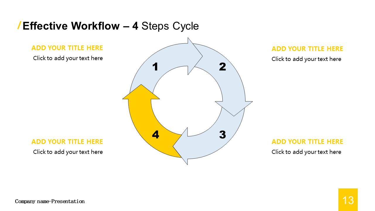商务汇报工作总结简洁模板PowerPoint下载_预览图13