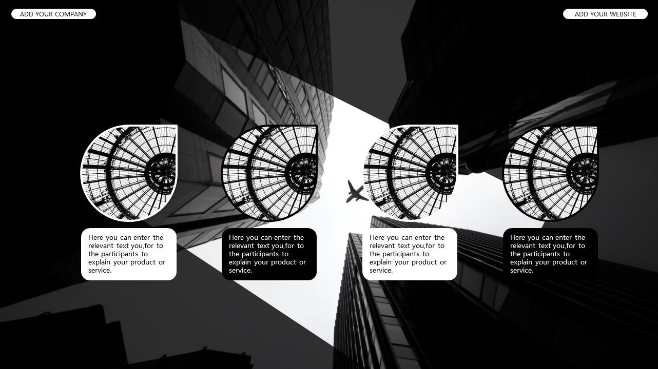 黑白时尚都市商务PPT模板_预览图16