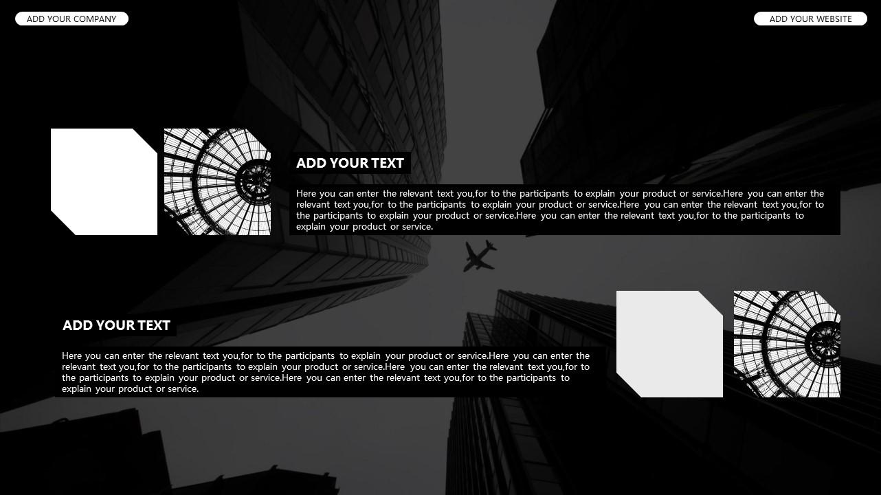 黑白时尚都市商务PPT模板_预览图8