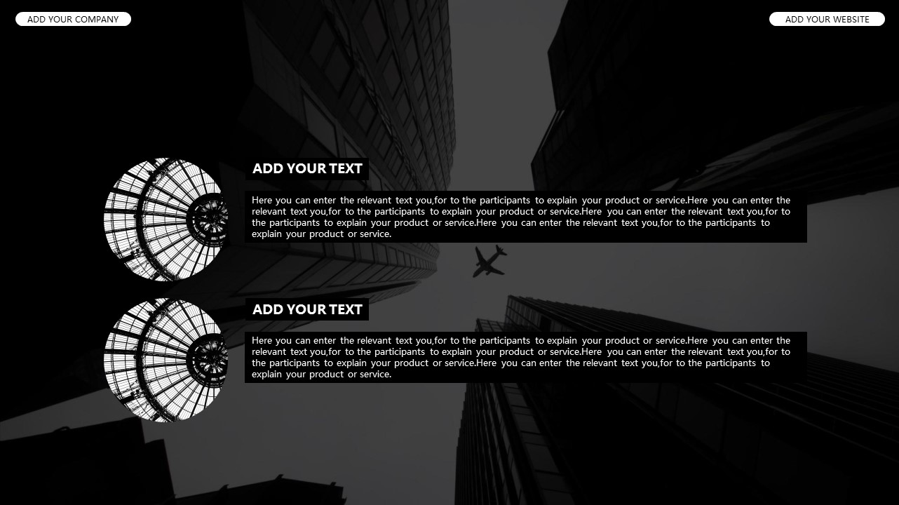黑白时尚都市商务PPT模板_预览图10