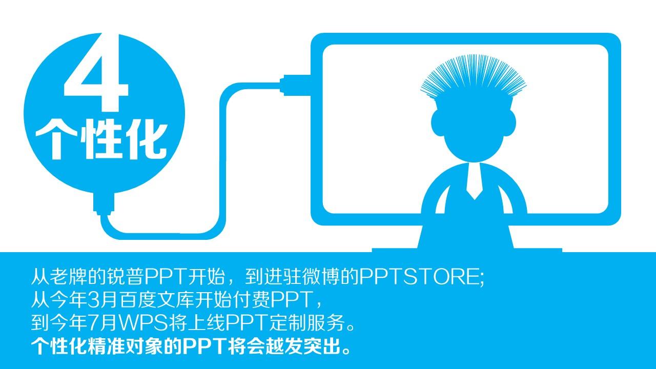 蓝色系产品发展趋势总结报告PPT模板下载_预览图6