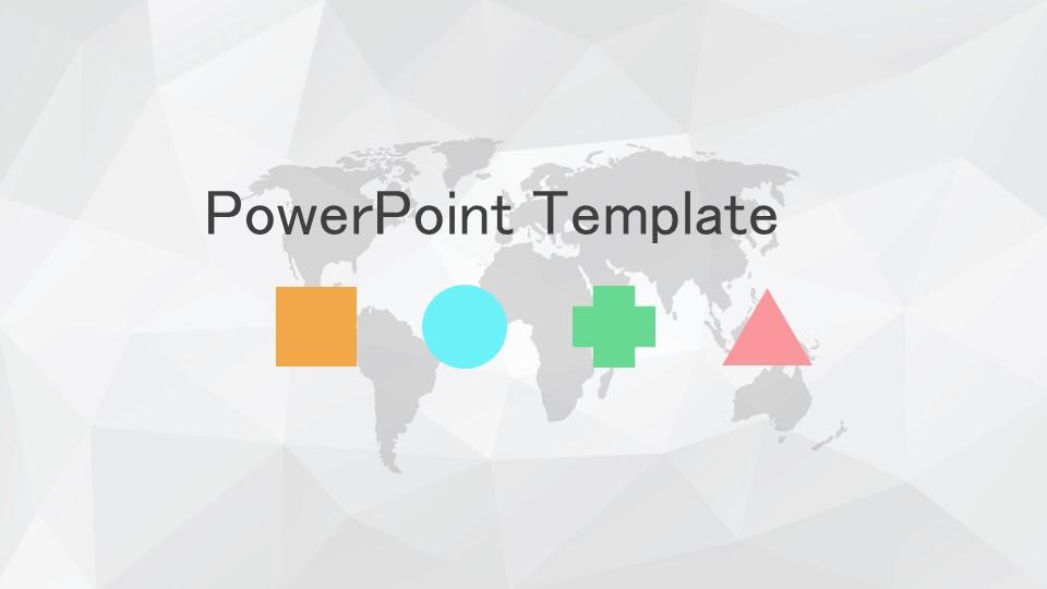灰色多边形背景简洁风PPT模板下载_预览图1