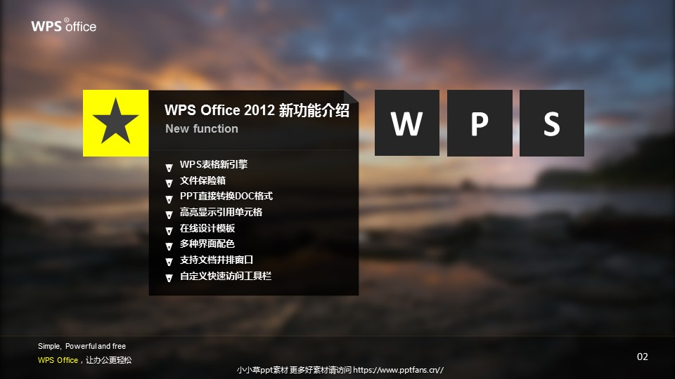 WPS宣传推广PowerPoint模板_预览图3
