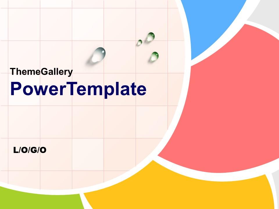 多彩英文课件PowerPoint模板下载_预览图1