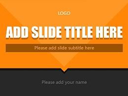 橙色系商务通用PowerPoint模板下载