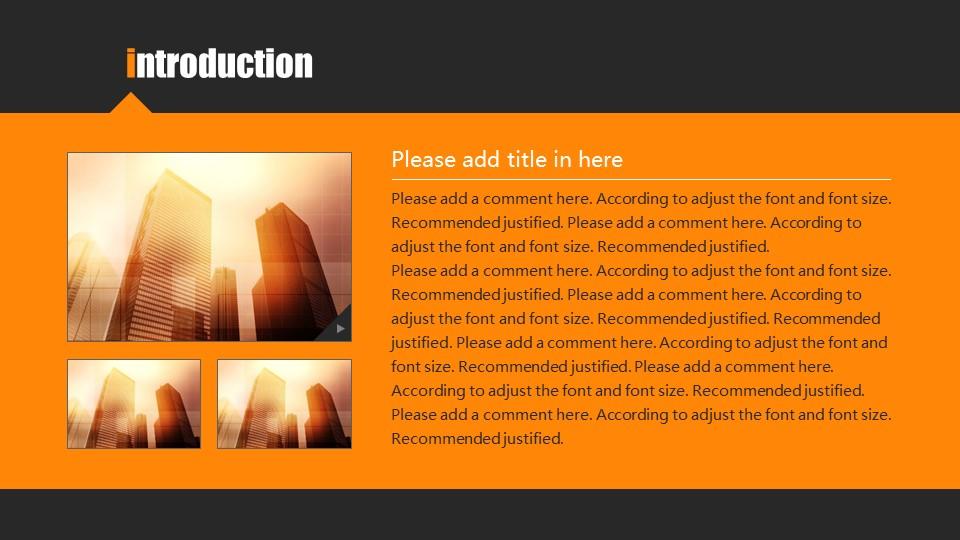 橙色系商务通用PowerPoint模板下载_预览图2