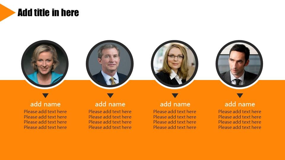 橙色系商务通用PowerPoint模板下载_预览图5