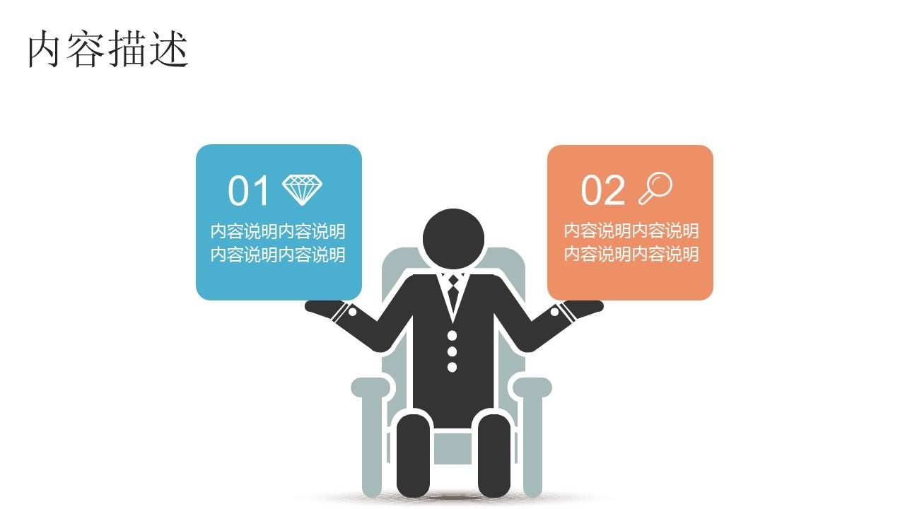商务人物集、图示集、图表集powerpoint演示模板免费下载_预览图3