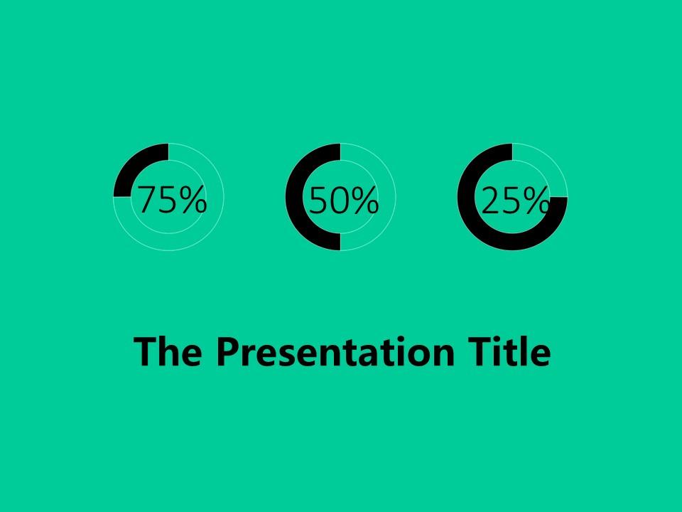绿色简洁通用商务PPT模板下载_预览图1
