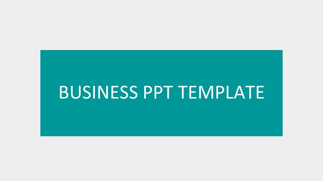 绿色系简洁商务PPT模板下载_预览图1