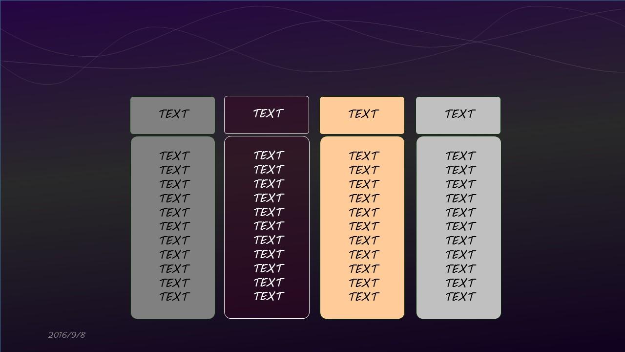 高贵紫色音乐之声PPT模板下载_预览图6