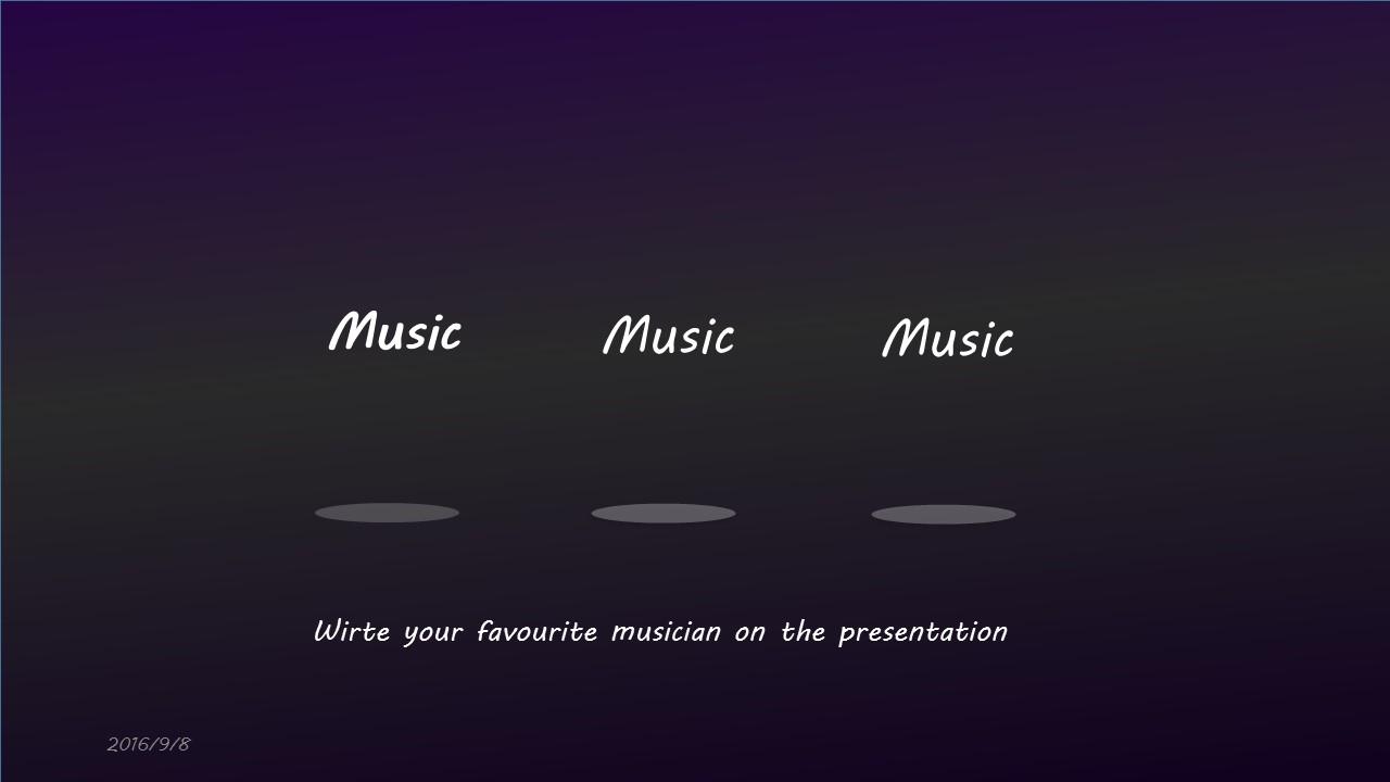 高贵紫色音乐之声PPT模板下载_预览图9