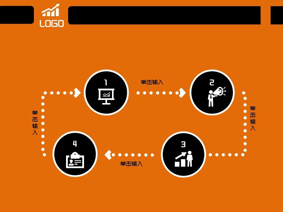 橙色简易商务汇报模板下载_预览图9